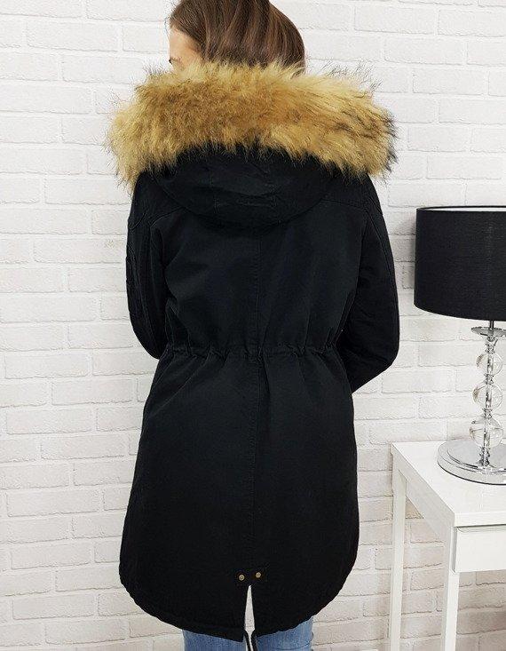 czarna kurtka parka damska
