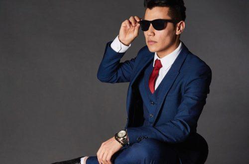 elegancko ubrany facet