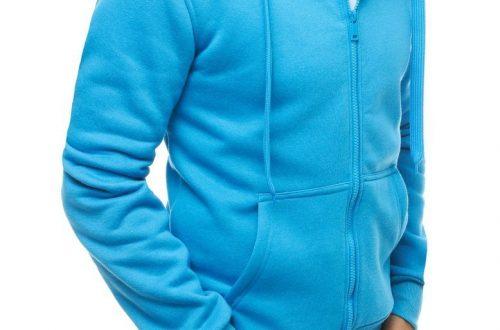 męska bluza z kapturem Dstreet jasnoniebieska